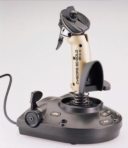 Saitek cyborg 3d золото usb пк механический рейс sim симулятор контроллер джойстик j 13g, видеоигры и приставки